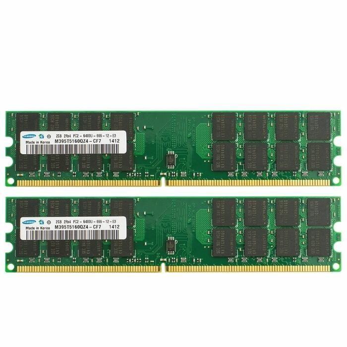 Memorii RAM Testate! 2GB DDR2 PC2-6400U 800MHz Kit (2x1Gb)