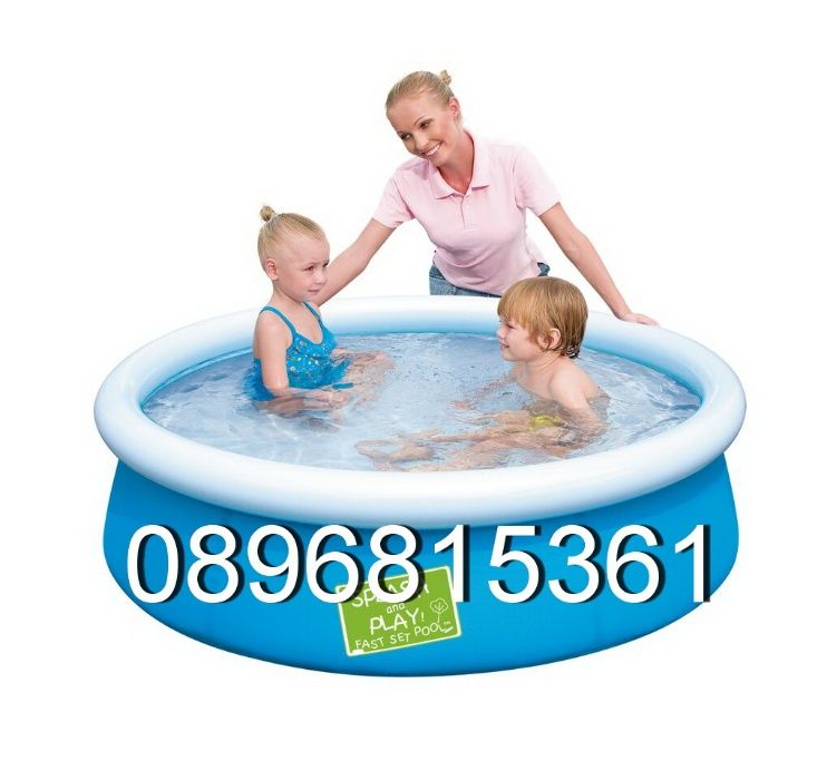 Надуваем басейн Bestway Fast Set 57241 152 cm x 38 cm Inflatable pool