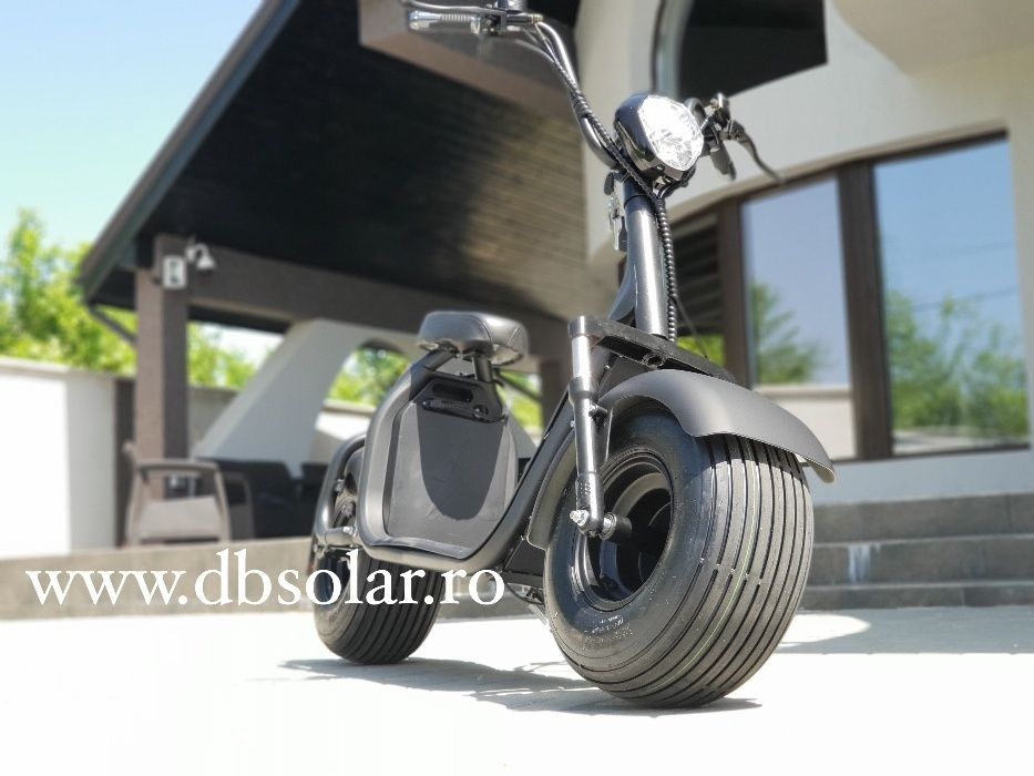 SCOOTER ELECTRIC 20Ah 60Km Autonomie Scuter Suspensii Harley SIGILAT‼️