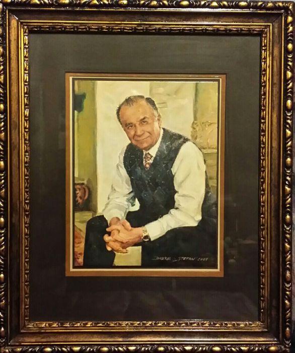 Tablou Pictura in ulei - Portretul Presedintelui ION ILIESCU Bucuresti - imagine 5