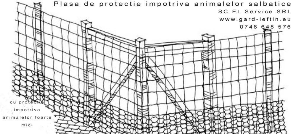 Plasa gard tip vanat cu protectie si impotriva animalelor mici