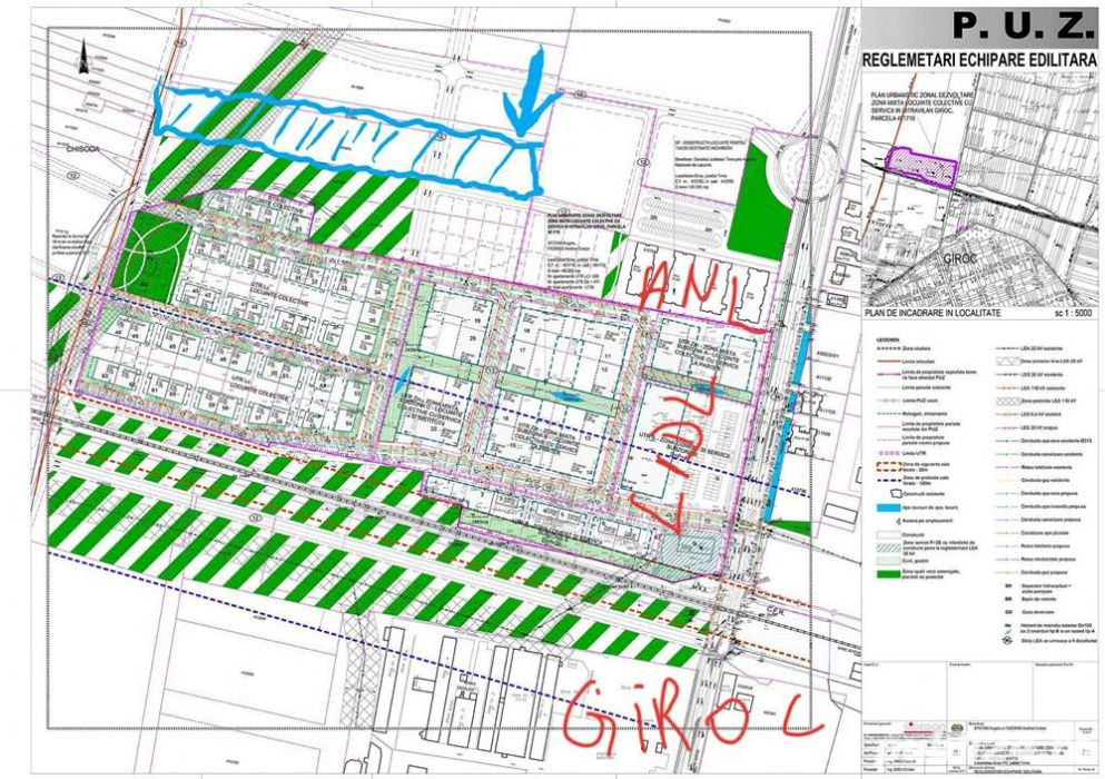 Teren Giroc -> Calea Timisoarei , oportunitate investitie imobiliara !
