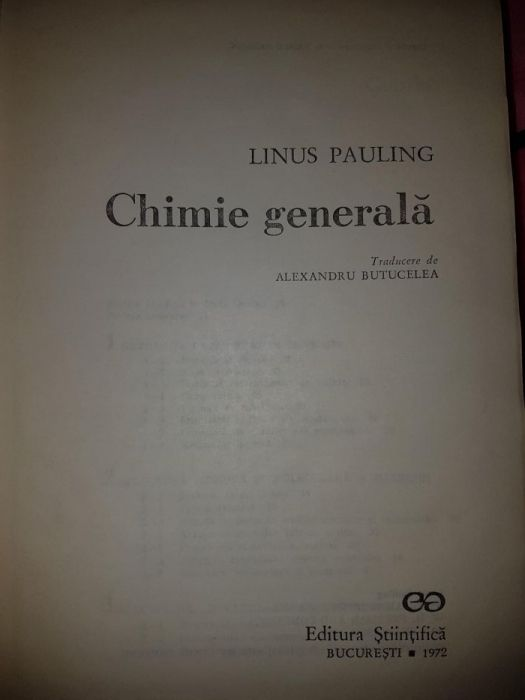 carte chimie generala linus pauling, carti, carte.