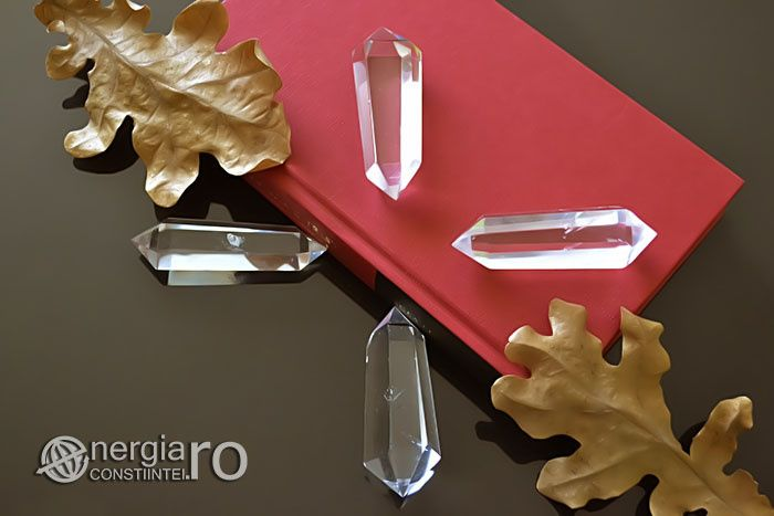 Baghetă Energetică Cristal Cuarț de Stâncă Protector Aura cod - ORG020