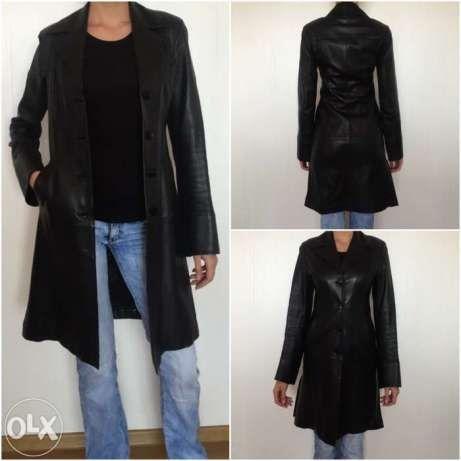 Плащ - пальто женский кожаный 42р