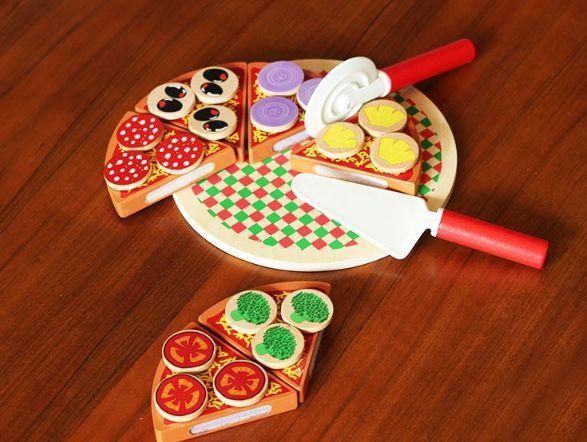 Wood Pizza с лепки за деца всички дървени играчки на хубави цени гр. Бургас - image 5