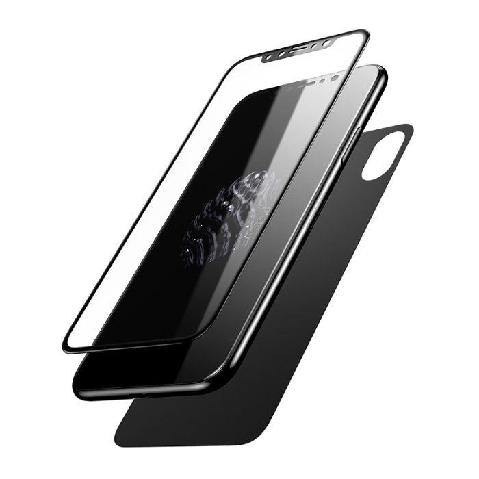 Folie Sticla Curbata 5D Fata + Spate iPhone X