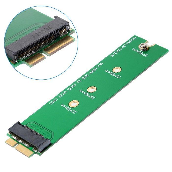 Adaptor convertor SSD M2 NGFF la 12+6 pini Asus Zenbook UX21 UX31 UX51