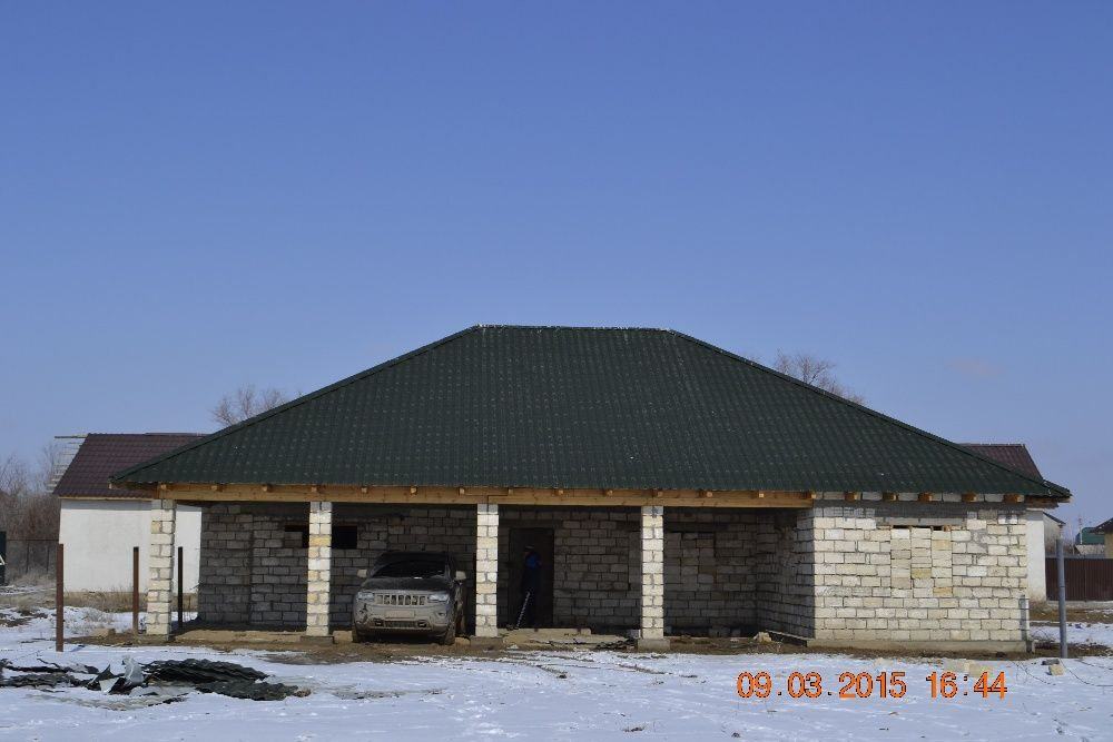 Недостроеный дом на Курилкино