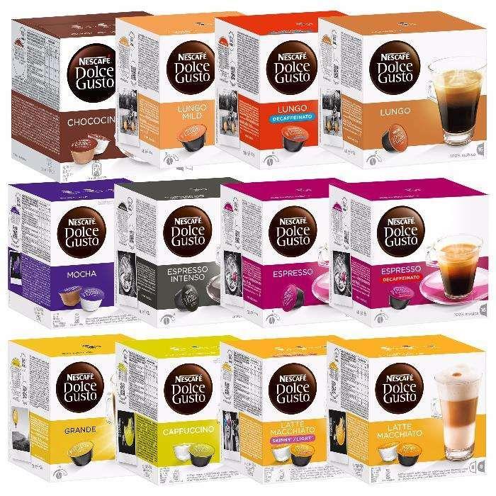 capsule cafea ceai NESCAFE DOLCE GUSTO cutie 16 buc sigilata diverse