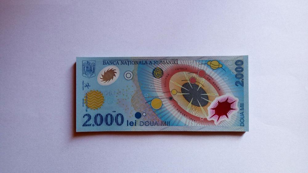Vand bancnote 2000 lei ECLIPSA - noi