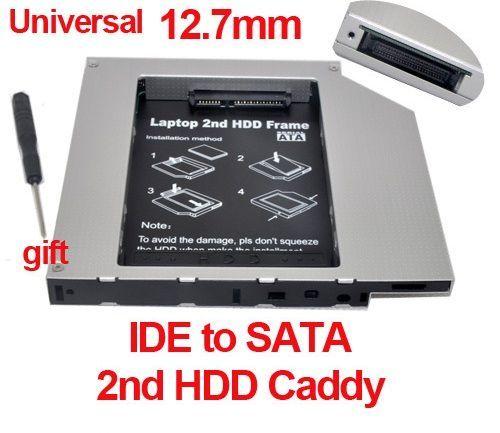 12.7mm IDE-Sata 2nd HDD, caddy SSD, adaptor rack SSD/HDD Salajan