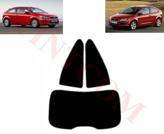 Ford Focus (3 врати, хечбек, 05 - 11) - Фолио за затъмняване на стъкла