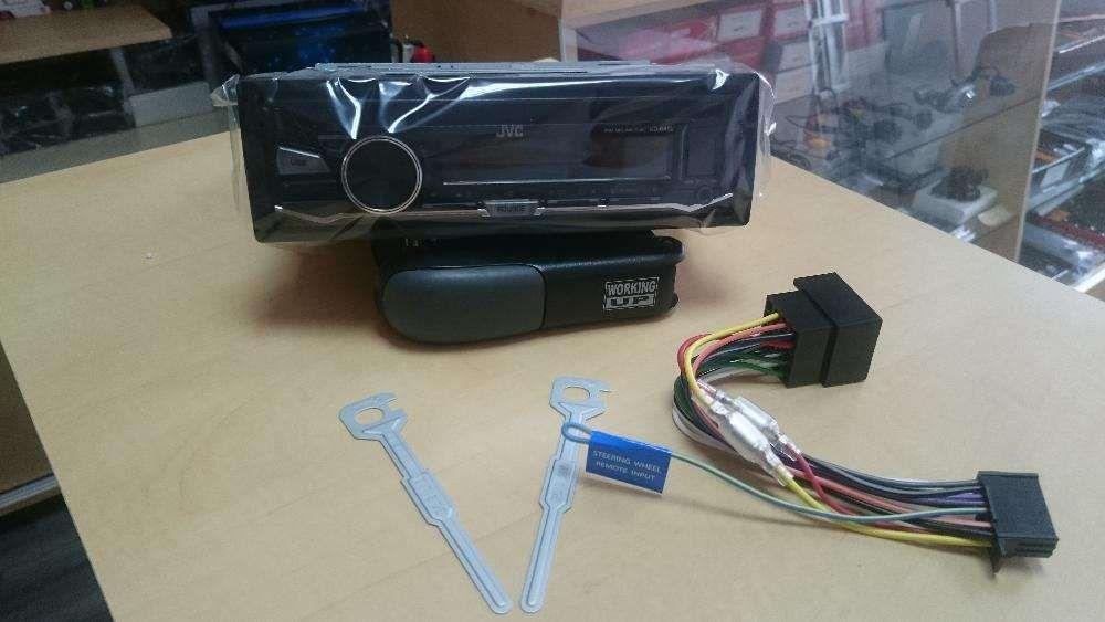 Receptor CD 1-DIN, JVC, iluminare rosu, Aux-in, USB