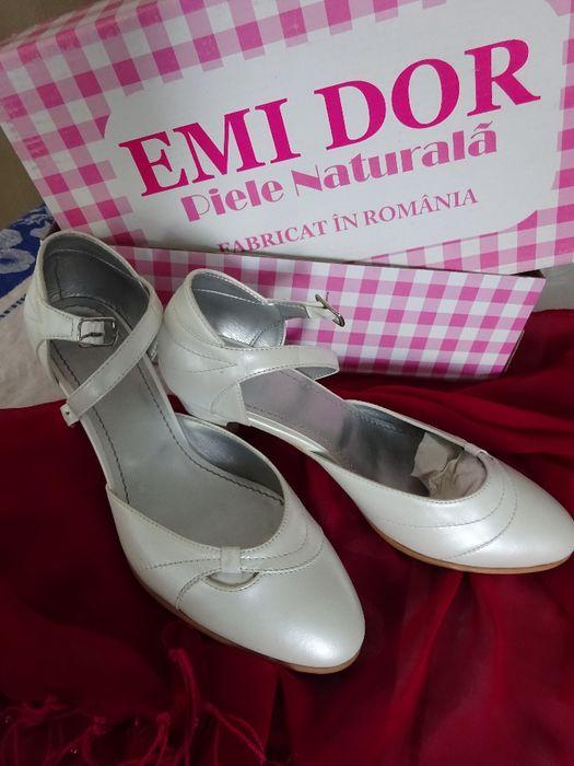 Pantofi piele mireasă Bucuresti - imagine 1