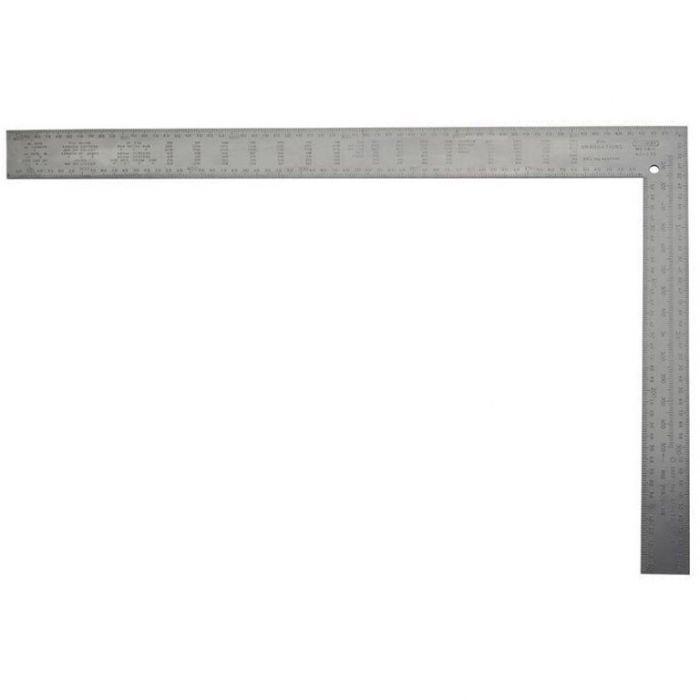 Прав ъгъл стоманен и релефен 600 x 50мм и 400 x 8 мм Stanley