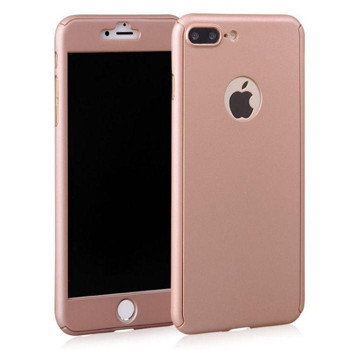 Husa 360 grade pentru iPhone 8 Plus Rose-Gold