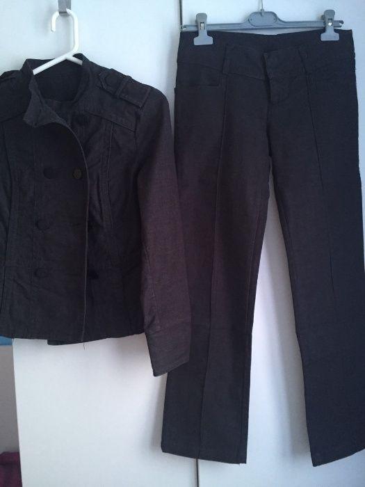 ZARA тъмносиво яке-сако и панталон, размер М