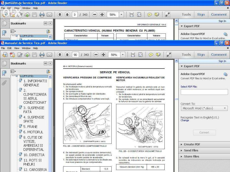 Manualul Service masina Daewoo Tico si Cielo in romana.Cateva sute pag