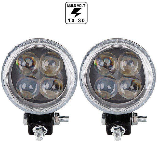 Proiector pe LED Auto 12W SPOT 4D cu Angel Eyes 12/24V AL-210217-3