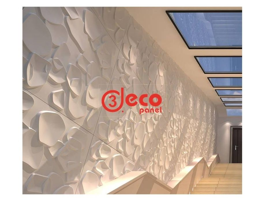 DUCKWEED- Panel decorativ 3D, tapet 3D, placa, panou, bambus, ecologic