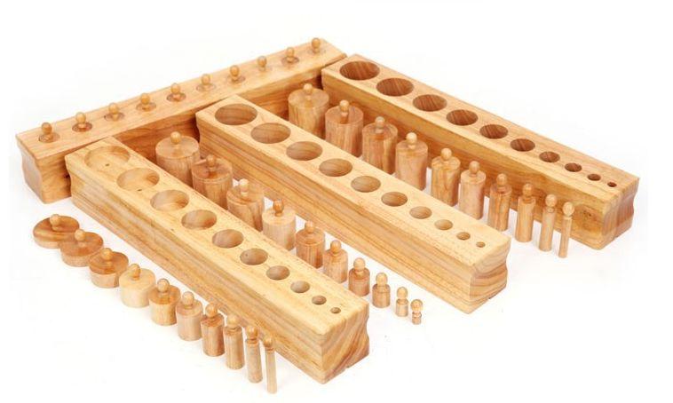 Монтесори кутии с цилиндри пълен комплект за сензорика + карти гр. Бургас - image 9