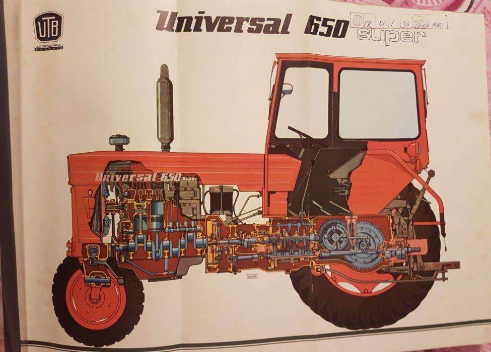 Planse cu schite color diferite componente tractorU650