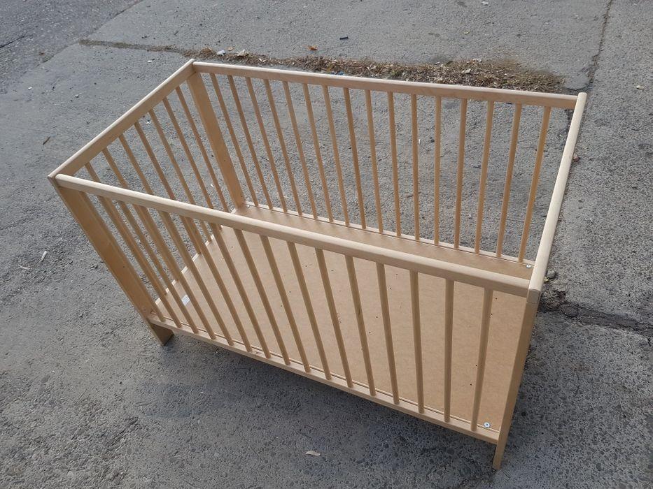 Pat lemn Ikea cu sau fara saltea