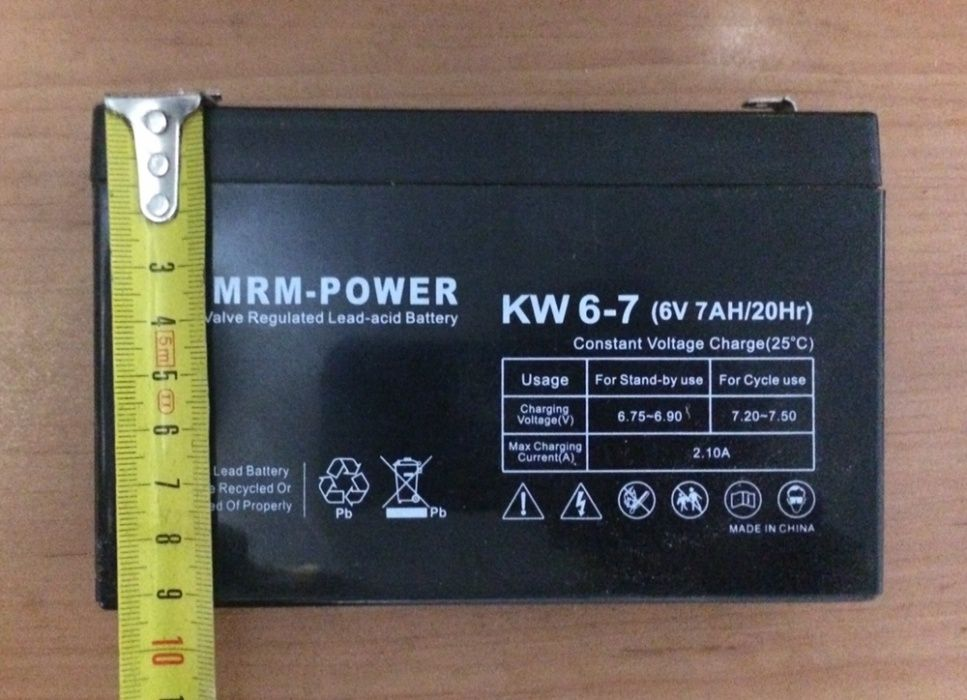Аккумулятор 6V7A
