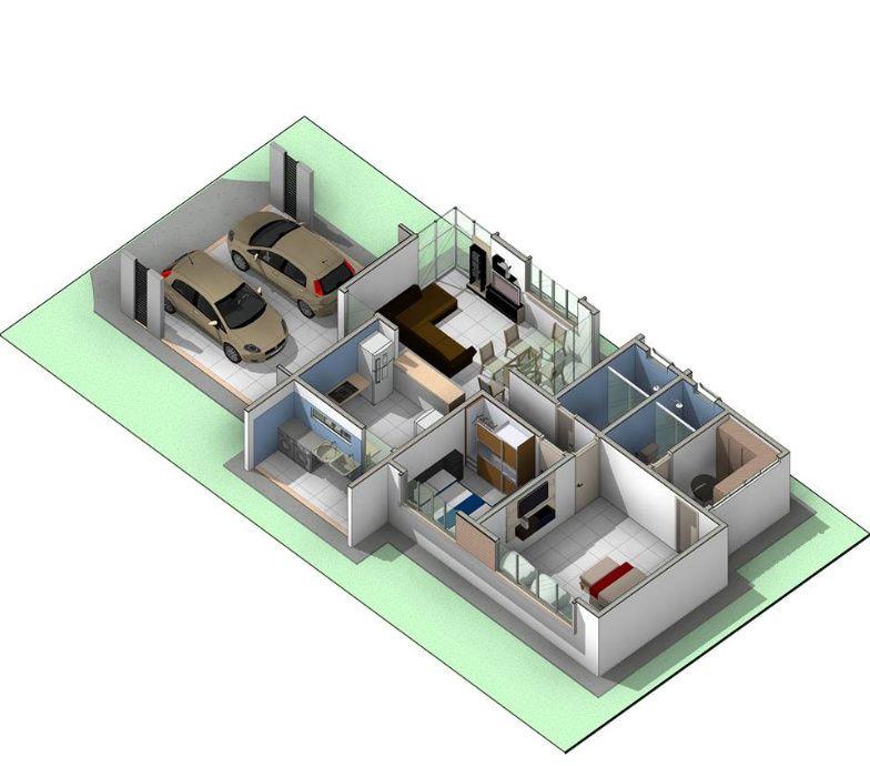 planta de arquitetura duma Moradia tipo 2