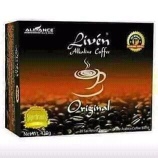 Suplementos Nutricionais da AIM Global: Liven Coffee ( Café Animador )
