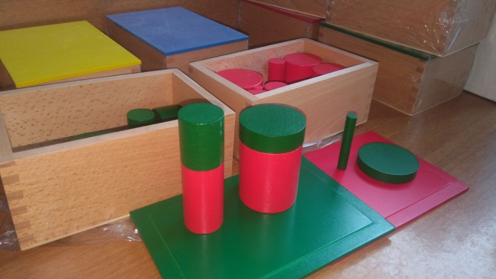 Монтесори кутии с цилиндри пълен комплект за сензорика + карти гр. Бургас - image 4