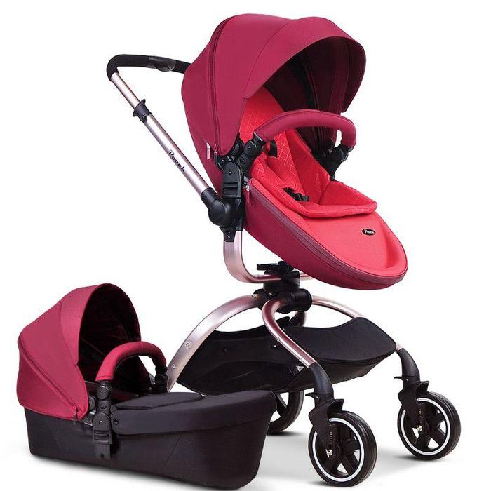 Carucior Pouch F90 rosu roz