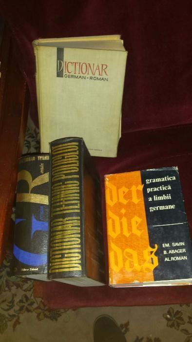 Vand carti dictionar german roman, gramatica, tehnic poliglot 1963