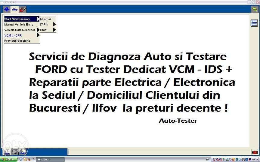 Diagnoza FORD Testare Auto Service Electrica si la Domiciliu Bucuresti
