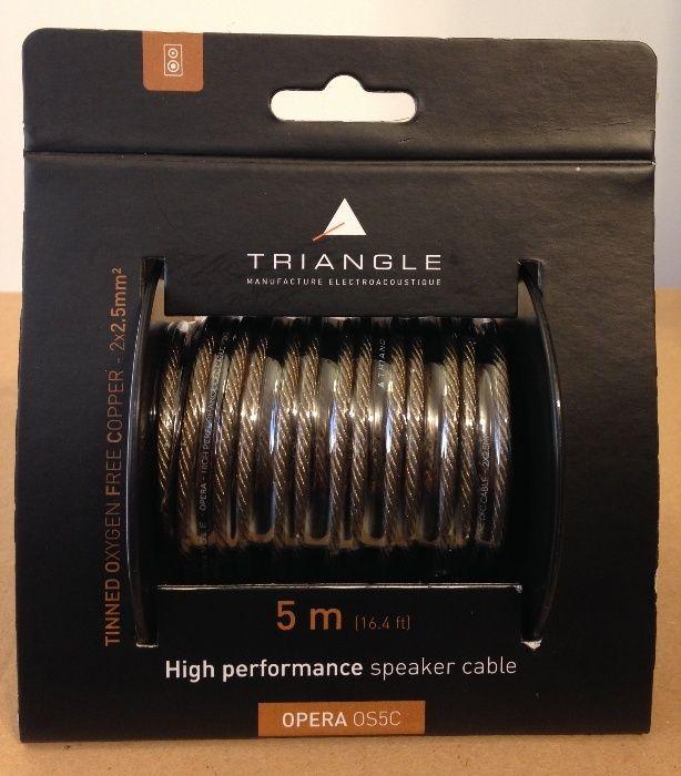 Cabluri de boxe 2x2,5mm Triangle Opera OS5C 5m lungime, noi, sigilate