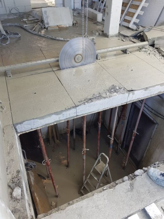 demolari controlate,taieri pereti beton armat,plansee,grinzi,fundatii.