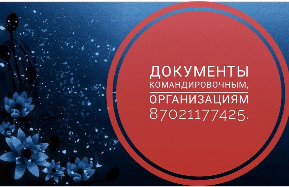 Пакет документов для командировочных и организаций