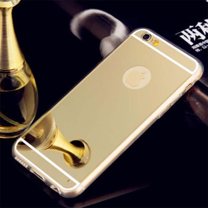 Husa Apple Iphone 6 / Apple Iphone 6S TIP OGLINDA MIRROR GOLD