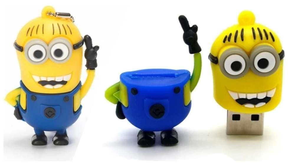 Chaveiro Flash Minions 16Gb