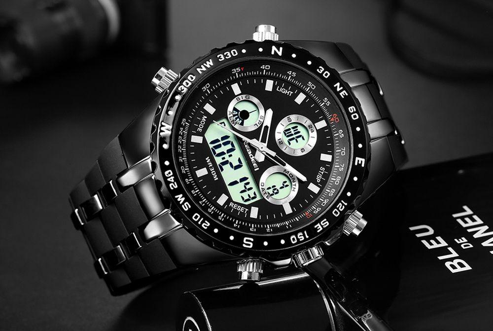спортно-елегантен ръчен часовник водонепромокаем нов воден
