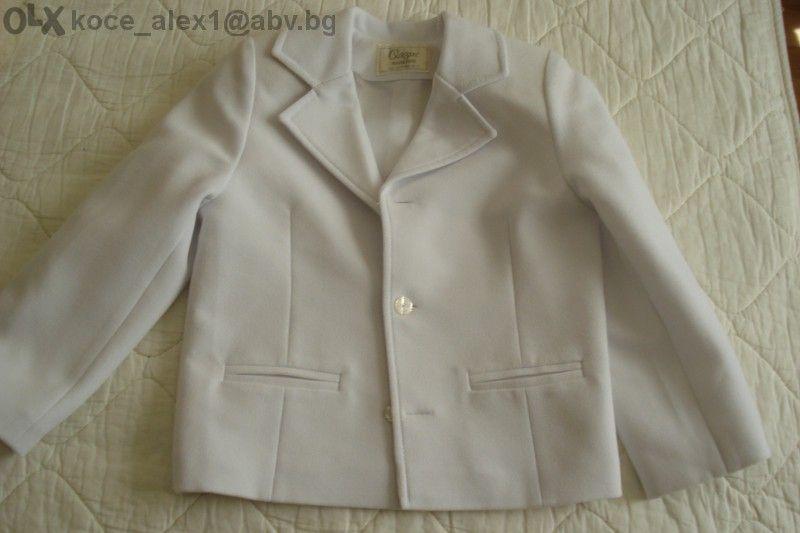 детски официален бял костюм