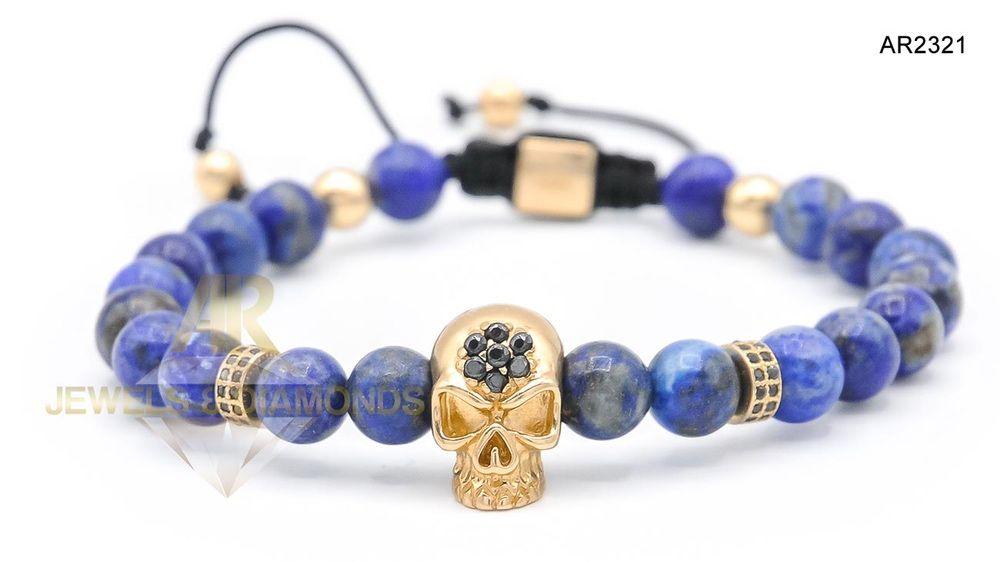Bratara Aur 14 K Skull Collection ARJEWELS&DIAMONDS(AR2321)