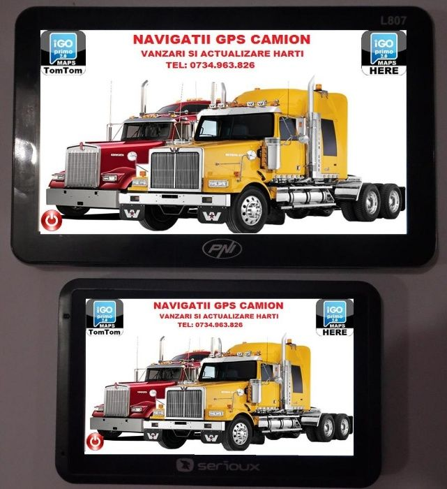 Harti camion pe diverse aparate gps, tablete si telefoane cu Android Targoviste - imagine 2