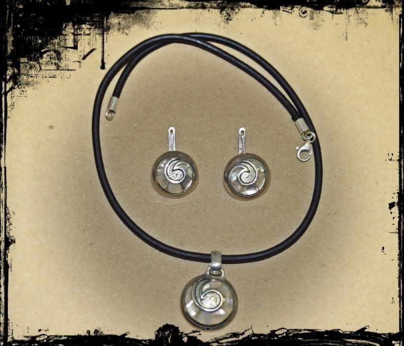 Авторски комплект сребро и седеф