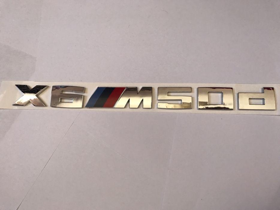 Emblema BMW X6M50d spate
