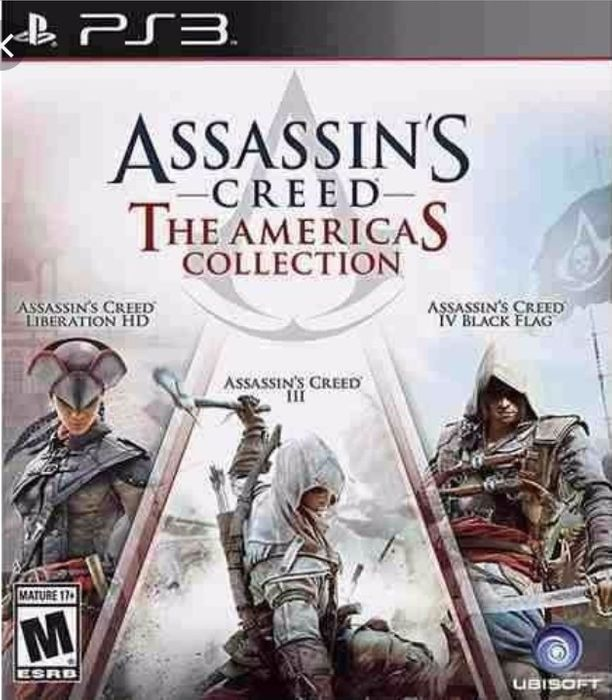 Assassin's Creed 4,3,Liberation. são três jogos em um e unico disco