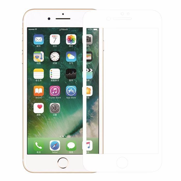 Folie Sticla Securizata 5D Red Black White - Iphone 7 8 7+ 8+