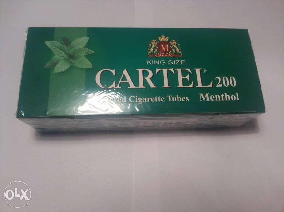 Tuburi tigari Cartel Menthol - filtru mentolat pentru injectat tutun