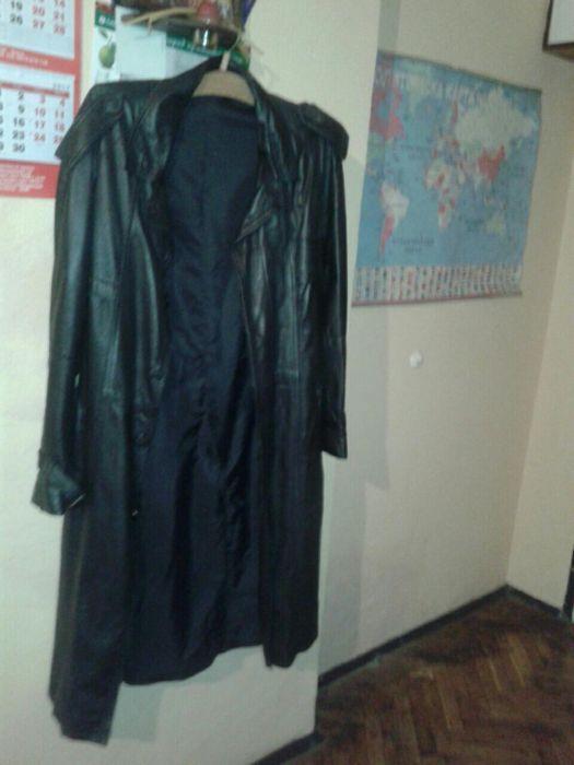 мъжки кожен черен шлифер